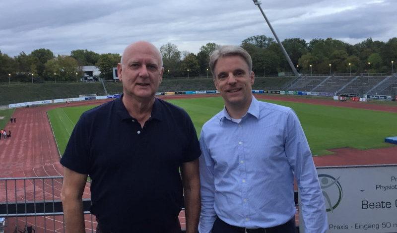 Jürgen Baró (Vorsitzender SSF Bonn) und Martin Schulze (Geschäftsführer BusinessCode)