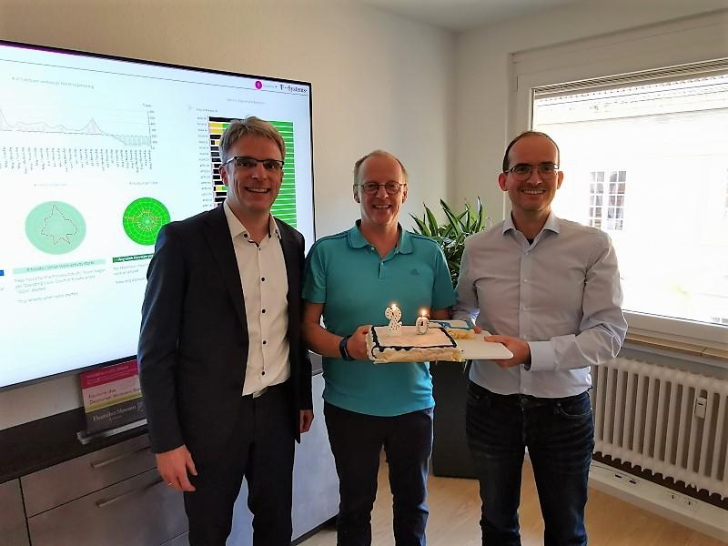 Martin Schulze, Hanno Gehron und Martin Bernemann bei der BusinessCode Jubiläumsfeier 2019